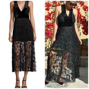 $1395 A.L.C Lola Velvet Womens Dress/Lace! (10)